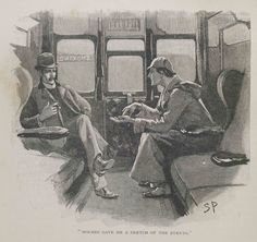 A Sidney Paget illustration of Sherlock Holmes and his companion Dr John Watson Sherlock Bbc, Sherlock Holmes Watson, Art Prints For Sale, Fine Art Prints, Framed Prints, Canvas Prints, John Watson, Detective, Fanfiction