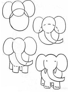 #çizim#kolayçizimler#basitçizimler#resim#görselsanatlar#okulöncesi#ilkokul#okulöncesietkinlik#draw#drawing#cat#gato#fil#filçizimi#elephant