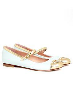 4b1dd6cb229 Mint + Gold Ballet Flats Shoe Gallery