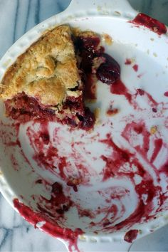 we're having a pie party - Gluten Free Girl and the Chef - gluten-free strawberry-cherry pie