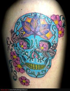 sugar skull tattoos rib cage | Tatto design of Sugar Skull Tattoos sugar skull - TattooDesignsIdeas ...