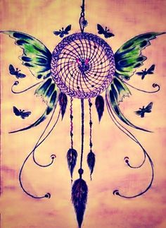 But with dragon wings instead ➳➳➳☮American Hippie Art - Dreamcatcher
