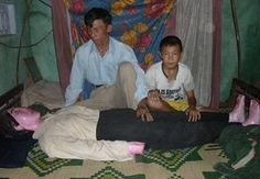 In 2009, Le Van made headlines after it was discovered he had been sleeping with his dead wife for five years. Two years later, reporters from the Nguoi Lao Dong newspaper checked in on the man again and confirmed he was still sleeping next to the body of his beloved and authorities couldn't do anything to stop him.  Vietnamese papers posted photos of a Le Van sleeping with a human-shaped gypsum statue that contained the body of his dead wife.