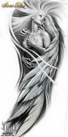 Looking forward to do this Black and Grey Full sleeve Fallen Angel Tattoo At Aatman Tattoos Bangalore, please drop a mail if u r interested....