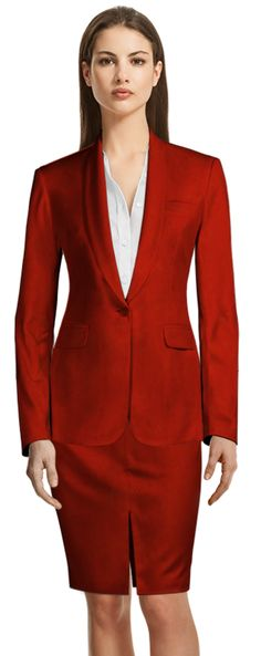 Pant Suits for Women Spring New, Red Skirts, Business Attire, Skirt Suit, Summer Wardrobe, Design Your Own, Suits For Women, Custom Made, Blazer