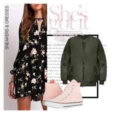 """""""Springtime Dress and Sneaks"""" by emilyherwitt on Polyvore featuring WearAll and Converse"""