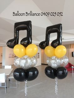 """""""25th Musical Anniversary"""" #musicalnoteballoons #heliumballoons #heliumballoonscanberra #belconnenartscentre #act #cbr #canberraballoons #BalloonBrilliance"""