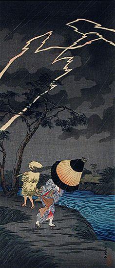 Shotei, Thunderstorm at Tateishi
