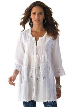 Plus Size Tops and Tees: Tunics for Women | Roamans