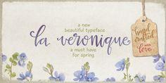 La Veronique - Webfont & Desktop font « MyFonts | A feminine hand written script font