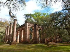 Old Sheldon Church Ruins near Beaufort SC Such a beautiful place. Church was destroyed by General Sherman's Troops during Civil War