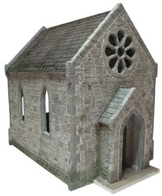 Chapel Dolls House 1:24 Scale - how to create realistic brick work and floors using stencils and compound.