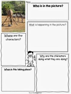- Picture of the Day - graphic organizer Picture Perfect Narrative Writing