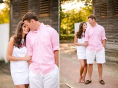 Pink and white... beach wedding? or Family pictures!