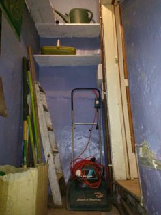 22.)  This included housing my newly acquired & very much appreciated raft of gardening equipment in the cellar head.