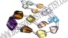 Multi Faceted Nuggets (Quality AA) / 13 to 22 mm / 57 to 63 Grms / 42 cm / MI-021 by GemstoneWholesaler on Etsy