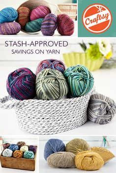 You know you're a knitter when you have more skeins than shoes...and with so much great yarn on CLEARANCE, now you can add even more sumptuous skeins to your stash! Shop now on Craftsy.