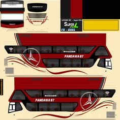 Kumpulan Livery Bimasena SDD (Double Decker) Bus Simulator Indonesia Terbaru New Bus, Skull Pictures, Bus Coach, Gw, Joker, Sticker, Template, Luxury, Jokers
