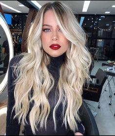 Silver Blonde Hair, Blonde Hair Looks, Brunette Hair, Long Brunette, Brunette Color, Cabelo Ombre Hair, Balayage Hair, Light Hair, Grunge Hair