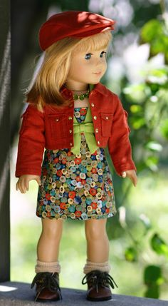 Modern-Middy Dress, Cropped Jacket, Gatsby Cap and Necklace by Doll Closet Heirlooms on Etsy, Sold American Girl Dress, American Doll Clothes, Ag Doll Clothes, Doll Clothes Patterns, Clothing Patterns, Middy Dress, Ag Clothing, Doll Closet, America Girl