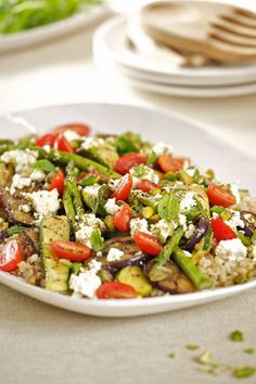 Eat for the Earth: griddled vegetable and barley salad - Spatula Magazine