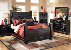 Shay Queen Poster Bed, /category/bedrooms/shay-queen-poster-bed.html