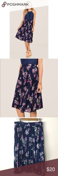 Miami Floral Pleated