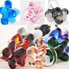 bubbly glass rings