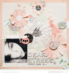 I love the composition of this layout with all the circles - Ania-Maria.  Using Studio Calico's October Antiquary kits