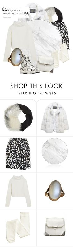"""white ❄"" by mumoka ❤ liked on Polyvore featuring Lanvin, Lilly e Violetta, New Look, Kelly Behun Studio, Haider Ackermann, Alexander Wang, Dr. Martens, Winter, white and marble"