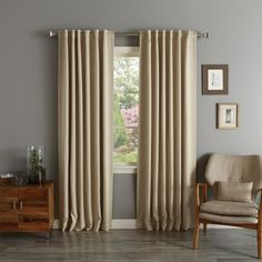 Shop for Aurora Home Solid Insulated Thermal Blackout Curtain Panel Pair. Get free delivery On EVERYTHING* Overstock - Your Online Home Decor Outlet Store! Bedroom Drapes, Ikea Curtains, Panel Curtains, Curtain Panels, Window Panels, Bedrooms, Drapes And Blinds, Blackout Curtains, Brighten Room
