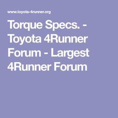 1995 toyota 4runner head bolt torque specs