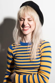 """Fi Smile: Hayley Williams (ENFP)... Perfect example of the Fi """"snarling"""" smile, which moves upward on the face, with strong lines connecting the nose and mouth"""