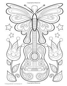 Ideas music note doodles coloring pages Doodle Coloring, Coloring Pages To Print, Mandala Coloring, Coloring Book Pages, Printable Coloring Pages, Free Adult Coloring, Coloring Pages For Kids, Diy Bordados, Note Doodles