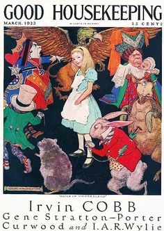 Good Housekeeping 1923-03 | Alice in Wonderland, with all the standard characters you love