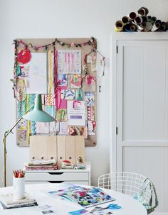 The corner studio in my work room as seen in my book, Decorate Workshop, by Holly Becker #decorateworkshop
