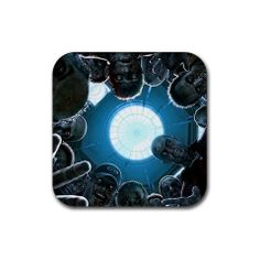 """Zombies Rubber Square Coaster set (4 pack) Great Gift Idea by MYDply. $4.95. This 4 pack of 3.75"""" x 3.75"""" square rubber coasters of the image shown are made of a durable heat-resistant polyester fabric top, backed with a neoprene rubber non-slip backing, keeps things from sliding. The rubber coasters are 1/8"""" thick. It will not discolor or fade, machine washable."""