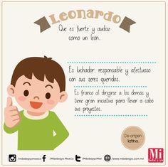Leonardo #RecomendaciónMIB #NombresDeBebé