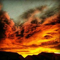 Sunrise in Pueblo, CO