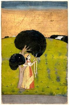 Gauri Ragini. Indian, Pahari. Second half of 17th century. Object Place: Northern Deccan or Punjab Plains, India