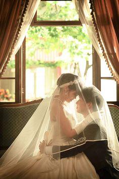 Ballet Wedding, Wedding Veil, Wedding Poses, Wedding Photoshoot, Wedding Dresses, Cute Muslim Couples, Bride Poses, Korean Wedding, Couple Posing