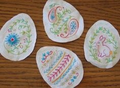 Easter Egg 4-Piece Embroidery PatternSet