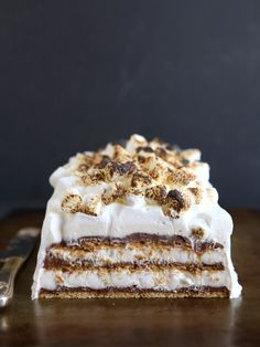 S'mores No-Bake Ice Box Cake from completelydelicious.com
