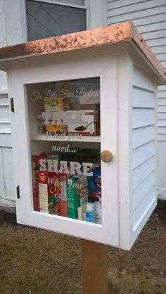 The Little Free Pantry Little Free Library Plans, Little Free Libraries, Little Library, Farm Sales, Little Free Pantry, Jacobs Well, Volunteer Ideas, Eggs For Sale, Eagle Project
