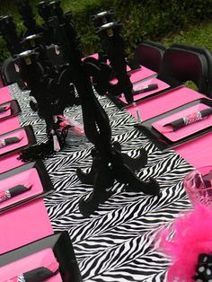 idea--run wrapping paper down the table center and use coordinating paper plate colors