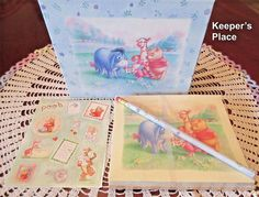 Winnie The Pooh Disney Notecards 4 Designs With Envelopes Retired New #SimplyPooh
