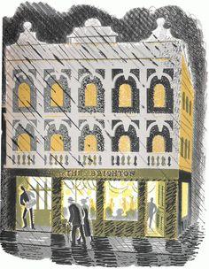Rainy Shop - Eric Ravilious