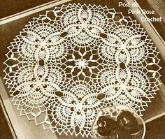 Toalhinha Abacaxi Croche 28 - PRose Crochet