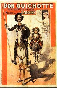 ADVERTISING SIGNS OF QUIJOTE Opera Jules Massenet 's Don Quichote Paris 1914