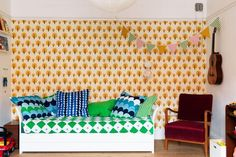 dotty wallpaper by FermLiving at www.justkidswallpaper.com #kidsrooms #kidswallpaper
